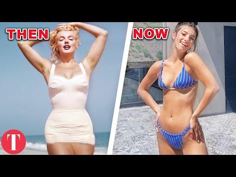 Колку се промениле костимите за капење изминативе 100 години?