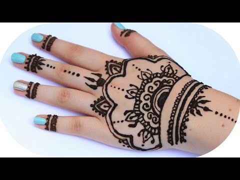 henna tutorial auf die ganze hand sanny kaur. Black Bedroom Furniture Sets. Home Design Ideas