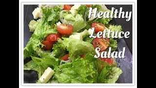Lettuce Salad | Healthy diet salad recipe | weight loss salad
