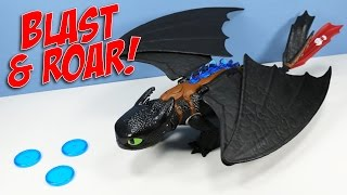 How to Train Your Dragon Blast & Roar Glowing Disc Launcher Toothless Toy Review