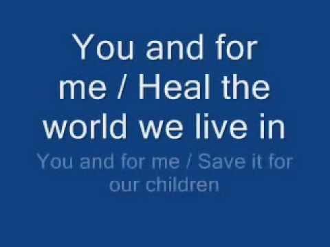 michael jackson - heal the world lyrics