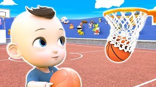 Baby Jake playing basketball Game - Fun Challenge
