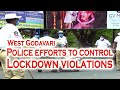Police efforts to control Lockdown violations // West Godavari