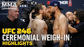 UFC 246 Ceremonial Weigh-In Highlights - MMA Fighting