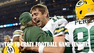 Top 10 Crazy Football Games Finishes