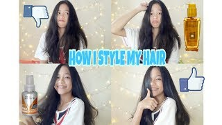 HOW I STYLE MY HAIR | (cara nyatok ) | Patricia langitan