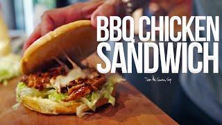 Best Quick BBQ Chicken Sandwich | SAM THE COOKING GUY