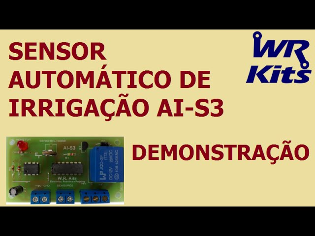 SENSOR AUTOMÁTICO DE IRRIGAÇÃO AI-S3 | DEMONSTRAÇÃO