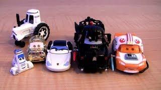 CARS STAR WARS 2013 Jedi McQueen as Luke Skywalker, Sally Princess Leia Disney Theme Park Toys