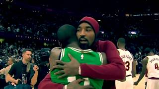 Kyrie Irving Handshakes with his Former Teammates! | Cavs vs. Celtics | October 17th, 2017