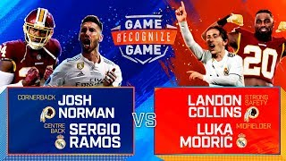 Ramos, Modric and Courtois vs. Collins and Norman   Real Madrid x NFL   Game Recognize Game