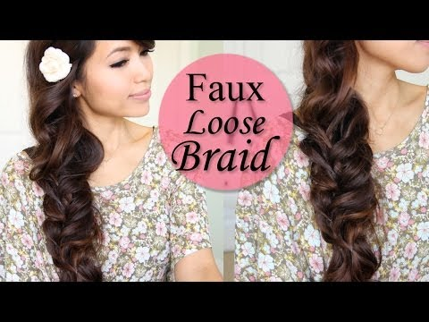 How To: Faux Loose Braid Curly Hairstyle For Long Hair Tutorial - Smashpipe Style