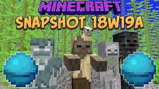 Minecraft 1.13 Snapshot 18w19a Beacon & Conduit Sounds! Dolphins Grace & Sinking Undead Mobs