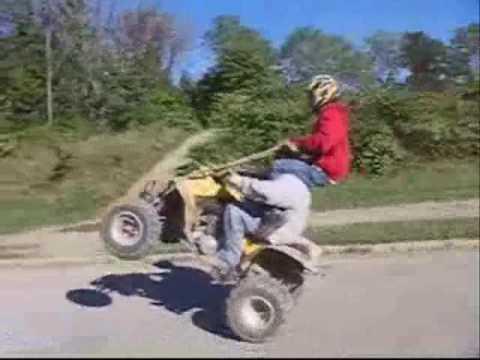 ATV racing and stunts