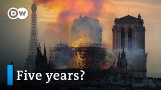 Notre Dame Cathedral Fire: Is Macron's reconstruction plan realistic? | DW News