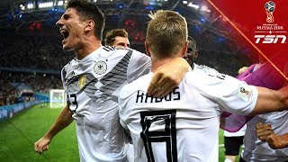 Germany wins in stoppage time with UNFORGETTABLE free kick goal