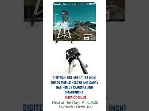 Amazon today offers on Digitek Tripod Mobile Holder   Carry Bag, DV Cameras and Smartphone