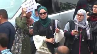 خريجو الصحافة والإعلام يحتجون ضد سياسة الانتساب لـquotالصحفيين ...