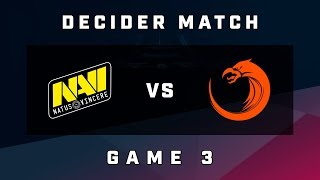 [ESL One Mumbai] Na`Vi vs TNC Predator - Game 3 - Decider Match