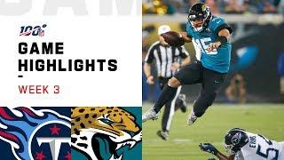 Titans vs. Jaguars Week 3 Highlights | NFL 2019