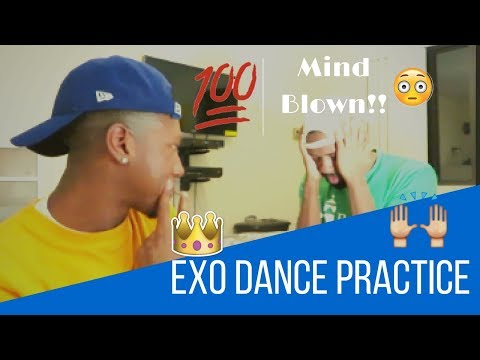 Exo Dance Practice reaction (Monster + The Eve) {Black Guys}