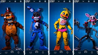FNAF AR Withered Toy Animatronics Jumpscare & Workshop Animations