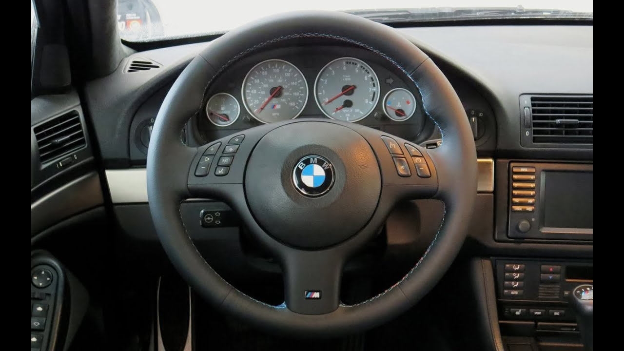 2000 bmw e39 m5 steering wheel facelift youtube. Black Bedroom Furniture Sets. Home Design Ideas