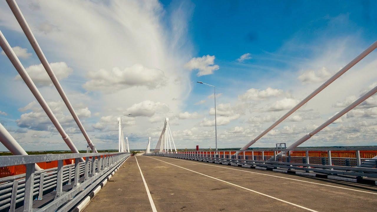 Первые видеокадры построенного моста Россия - Китай