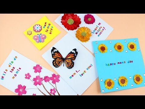 How to make layered paper Mother day cards