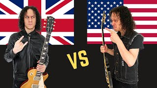 BRITISH Heavy Metal  vs Heavy Metal USA (Guitar Riffs Battle)