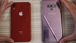 iPhone XR vs Samsung Note 9 - Speed Test!