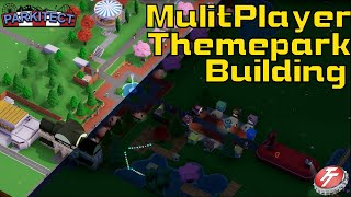 ALL NEW -Building COOLEST THEME PARK TOGETHER!! | Parkitect Amusement Park Tycoon Multiplayer Ep. 01