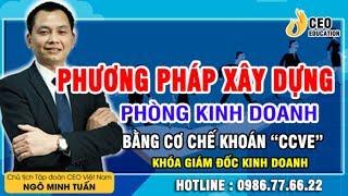 Phương Pháp Xây Dựng Cơ Cấu Cho Phòng Kinh Doanh - Ngô Minh Tuấn | Học Viện CEO Việt Nam