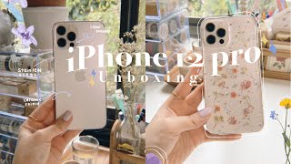 iPhone 12 Pro Unboxing ( silver, 256gb, & accessories) + organize my apps with me!