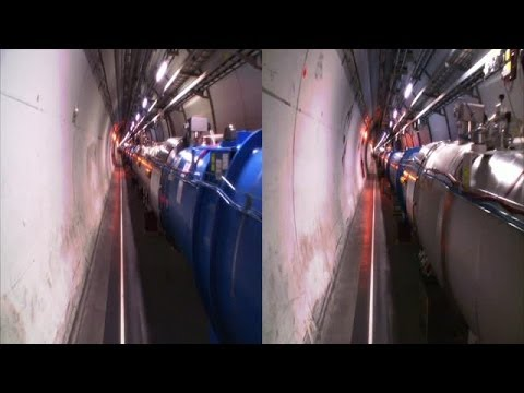 CERN Experiment footage 3D side by side