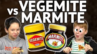 German Kids try Vegemite and Marmite