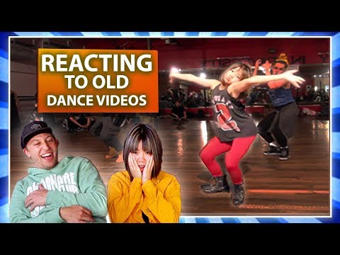 REACTING TO OUR OLD DANCE VIDEOS w/ Bailey Sok