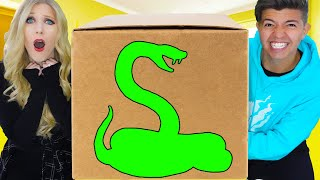 WHAT'S IN THE BOX PRANK on PRESTON & HIS FAMILY! (Challenge with Secret Animals!)