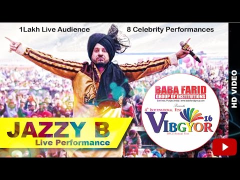 Jazzy B performing LIVE at VIBGYOR'16