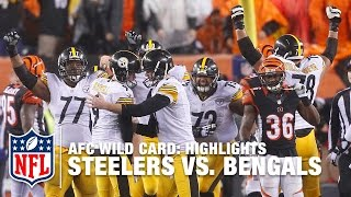 Steelers vs. Bengals | AFC Wild Card Highlights | NFL