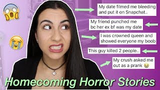 Revealing Your WORST Homecoming Stories EVER (yikes!) | Just Sharon