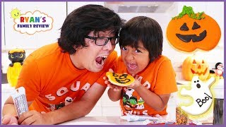 Kids Fun Baking Halloween Cookies Treat with Ryan's Family Review!!!