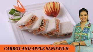 CARROT AND APPLE SANDWICH - Mrs Vahchef