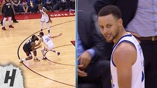 Steph Curry Doesn't Like the Flop from James Harden - Warriors vs Rockets | March 13, 2019