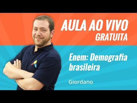 AULA AO VIVO | Enem: Demografia Brasileira
