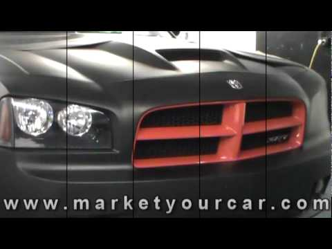 Dodge Charger SRT8 in Matte Black - Vehicle Wrapped by Market Your Car Inc.mpg.mpg