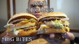 Asmr 2 BIG MAC *SAVAGE EATING *BIG BITES *NO TALKING