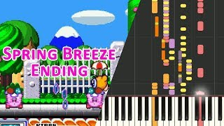 Piano - SNES Kirby Super Star - Spring Breeze Ending