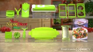Nicer Dicer Genius NicerDicer Plus As Seen on TV Multi Chopper 12 Pieces - Product Tour