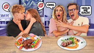 First DOUBLE DATE with Rebecca Zamolo TEEN vs ADULT **Couples Challenge**❤️| Piper Rockelle